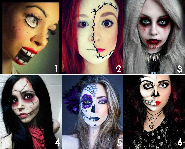 как можно себя разукрасить на хэллоуин фото максимально