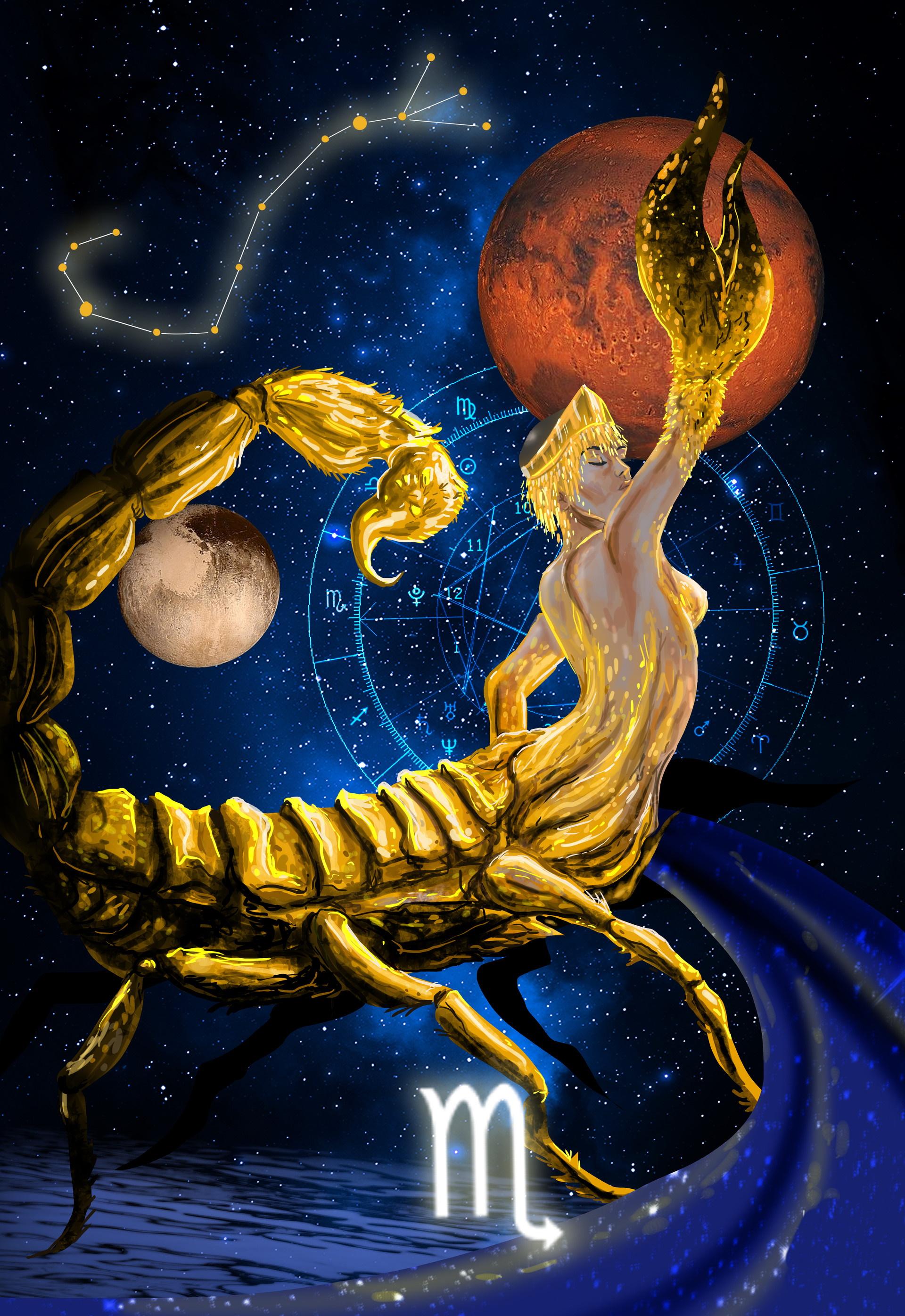 скорпион знак зодиака интерпретация картинка использовать