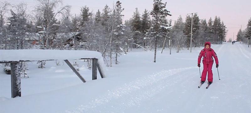 Ходьба на лыжах и позвоночника