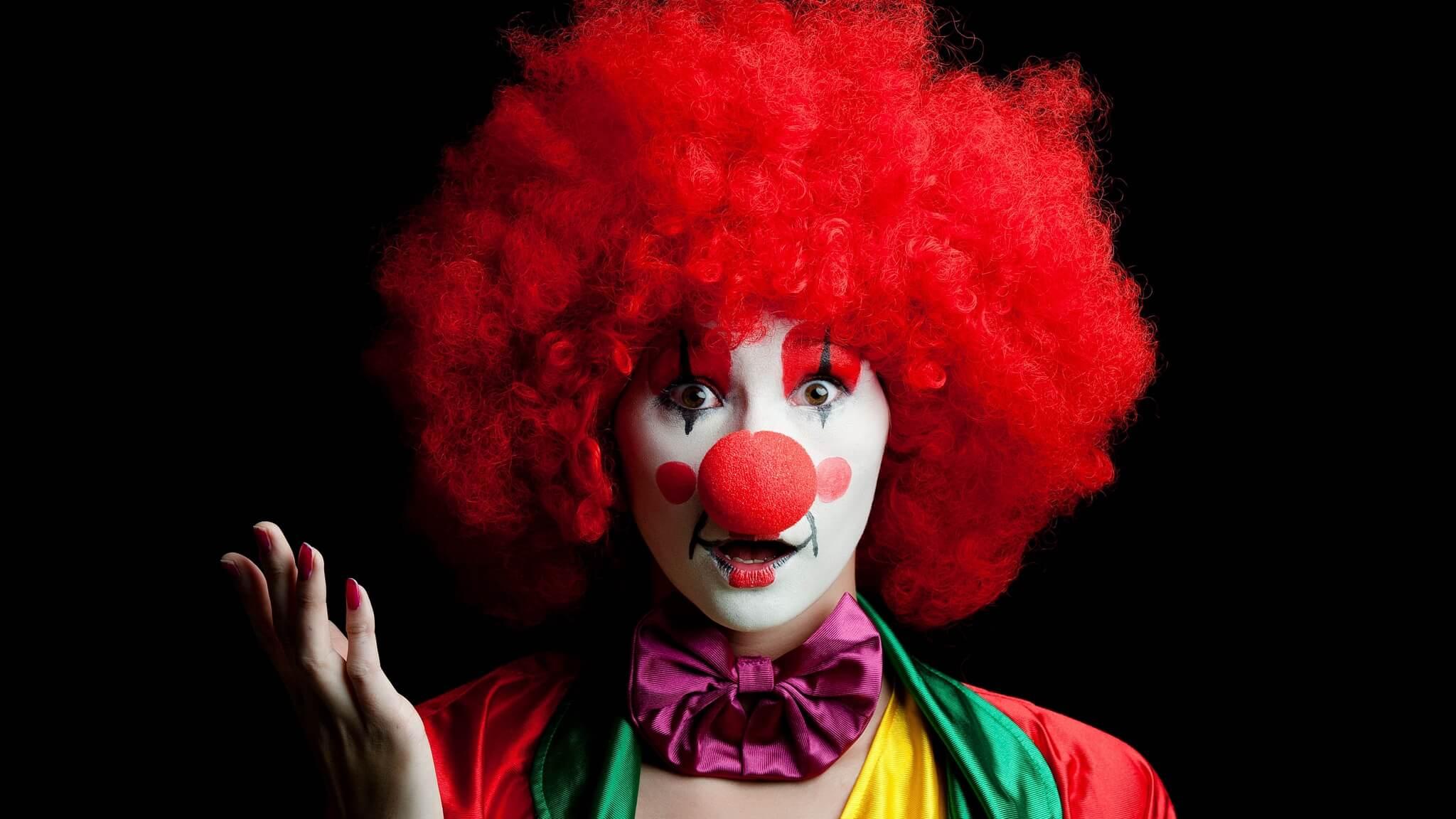 картинка доброго клоуна приятный звук