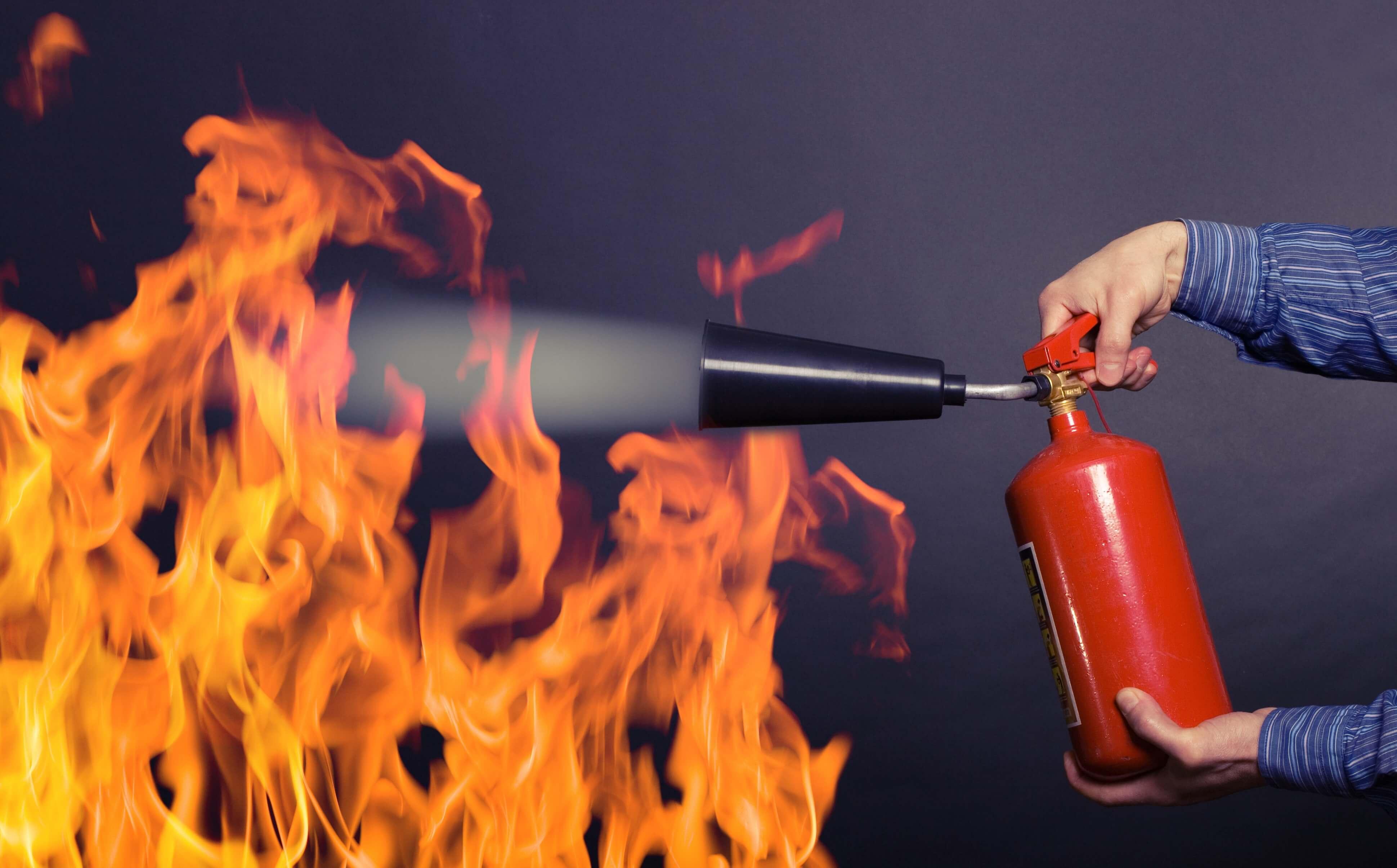 машина картинки тушат пожар огнетушителем гортензии