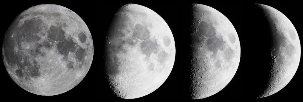 только фазы луны убывающая растущая луна картинки год никому известного